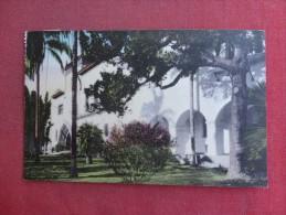 - California> Santa Barbara -- Hand Colored   Court House   ref 1494