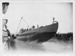 """SAINT-NAZAIRE  -  Cliché Du Lancement Du Sous-Marin """" LE CONQUERANT """" Le 26 Juin 1934   -  Voir Description   -  ¤¤ - Saint Nazaire"""