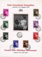 BELGIEN 1937 Sehr Schöne 8 Fach Satzfrankierung Auf Gedenkblatt > Premiere Foire Philatelique Internationele >>> - Luxusblätter