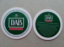 Bier Beer Coaster DAB Dortmunder Export Germany - Sous-bocks
