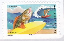 France 2014 Holiday Vacances Poisson Surfeur Fisch Fish Surfing MNH ** - Frankreich