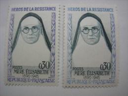 N°1291 Variété Couleur Bleu Au Lieu De Violet - Abarten: 1960-69 Ungebraucht