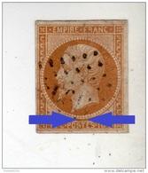 YT 13B - Napoléon III 10c Brun Clair - PC 4199 Annecy 74 - Variété Sur Le Cadre - 1853-1860 Napoleon III