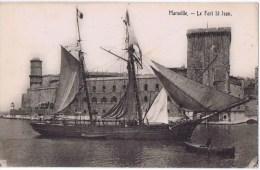 Cpa 20   MARSEILLE Le Fort St Jean  GROS PLAN DU VOILIER       RARE - Marseille