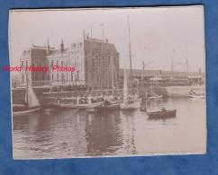 Photo ancienne - LE HAVRE - Manoeuvres de Bateau au port - d�but 1900 ou avant