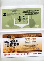 Programme Mondial De La Biere Montreal - Programs