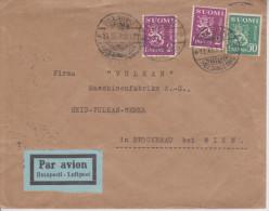 B8 Finnland Finland Finlande Suomi 1935 Luftpostbrief Von Helsinki Nach Stockerau über Wien - Finlandia