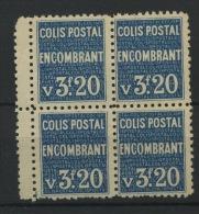 Encombrant    Colis 173**  Cote 4x20 Euros = 80 E Le Bloc De 4 Luxe - Parcel Post