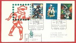 ITALIA REPUBBLICA FDC VENETIA RACCOMANDATA - 1974 - 16ª Giornata Del Francobollo - ANN. ROMA EUR DEDICATO - 1946-.. Republiek