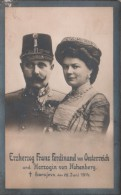 FRANZ FERDINAND and his wife / postcard / Sarajevo 1914