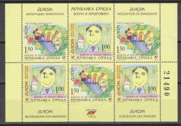 Europa Cept 2006 Bosnia/Herzegovina Serbia Booklet Pane ** Mnh (17046) - Europa-CEPT