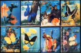 UMM  AL  QIWAIN  -  BUTTERFLIES  3D  - **MNH  - RARE - Mariposas