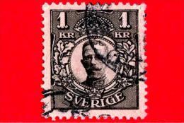 SVEZIA - SVERIGE - USATO - 1910 - Re Gustaf V - 1 - Suède