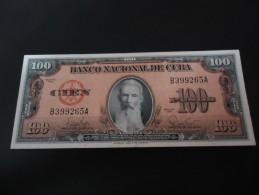1959 CUBA RARE 100 PESOS * AGUILERA * ( P 93 ) - aUNC -