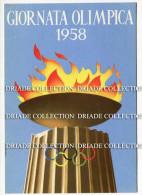 CARTOLINA GIORNATA OLIMPICA ANNO 1958 CON ANNULLO - Giochi Olimpici