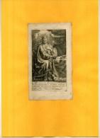 - ROI DAVID . EAU FORTE DU XVIIe S. COLLEE SUR PAPIER - Religion & Esotericism