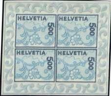 Stickerei Kleinbg  20 Fr.  Mi. 1726 (4x) ,**, MiPr.:   220,00 €   # 2201