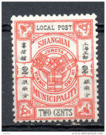 China Chine : (201) Poste Municipale --Shanghai SG160* - Unused Stamps
