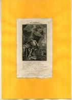 - ST JEROME .  EAU FORTE   XVIIIe S   . COLLEE SUR PAPIER - Godsdienst & Esoterisme