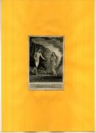- EVE BROUGHT TO ADAM .  EAU FORTE   DE 1813  DECOUPEE ET COLLEE SUR PAPIER - Religion & Esotericism