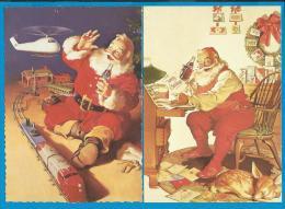 2 Kerstkaarten - Coca-Cola - Kerstman