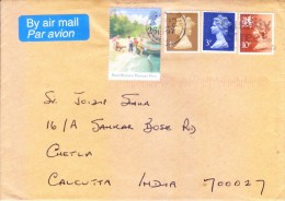 GREAT BRITAIN 1997 COMMERCIAL COVER POSTEDFROM LONDON FOR INDIA - 1952-.... (Elizabeth II)
