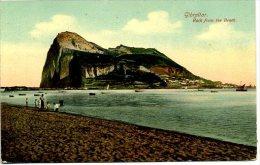 GIBRALTAR -  ROCK FROM THE BEACH - Gibilterra