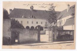 Charolles - Le Collège - Entrée Rue De Champagny, Le Mur D'enceinte Sert De Placard Aux Affiches De Ventes - Pas Circulé - Charolles