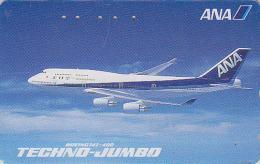 Télécarte Japon / 110-011 - AVION - TECHNO JUMBO - Air Plane Japan Phonecard ANA Airlines - FLUGZEUG Telefonkarte - 529 - Aerei