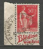 PAIX  PUB BLEDINE  N� 283 OBL / TYPE III TTB