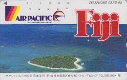 Télécarte Japon / 110-126098  - AIR PACIFIC FIJI FIDJI - Air Plane Japan Phonecard Airlines - FLUGZEUG Avion - 534 - Avions