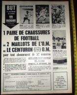 PUB PUBLICITE REVUE FOOTBALL BUT FOOTBALL MAILLOT CEINTURON DE L OM ADIDAS GERD MULLER HUNGA MAGNUSSON PUMA LE ROI PELE - Vieux Papiers
