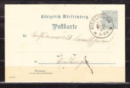 Wuerttemberg P 41, Innerhalb Riedlingen 1901 (19002) - Ganzsachen