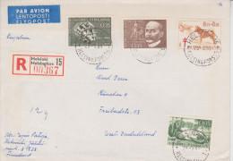 B8 Finnland Finland Finlande Suomi 1965 R-Brief Von Helsinki Nach München - Finlandia