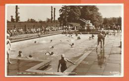 JAC1-01 Swindon The Swimming Pool, Coate Water, ANIMATED.  Postally Used In 1955 - Angleterre