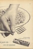 # PASTA BUITONI 1950s Advert Pubblicità Publicitè Publicidad Reklame Food Alimentation Alimentos Lebensmittel - Manifesti