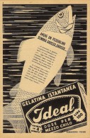 # IDEAL GELATINA  1950s Advert Pubblicità Publicitè Publicidad Reklame Food Jelly Gelatin Gelatine - Manifesti