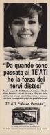 # TE ATI 1950s Advert Pubblicità Publicitè Reklame Food Tea The Te Ceylon Sri Lanka - Manifesti