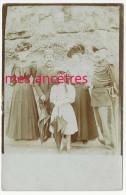 Carte Photo 1906-famille CREUZAL, Aisée, Très Belles Toilettes, Maréchal Des Logis Bicorne--mode - Identified Persons