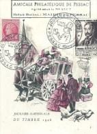 AQUITAINE - 33 - GIRONDE - PESSAC - Journée Du Timbre 1948 - Etienne Arago Créateur Du Timbre Poste En 1848 - Cartes-Maximum