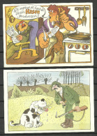 Deutschland 2 Postkarten Jagd Hunting Humor Sent To Estonia 1995 - Humour