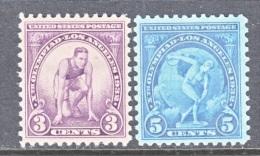 US  718-9   **   WINTER   OLYMPICS  1932 - Winter 1932: Lake Placid