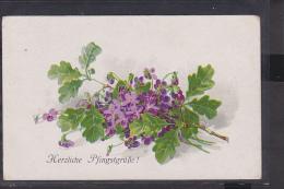 Postkarte Pfingsten Blumen Feldpost  1918 - Pfingsten