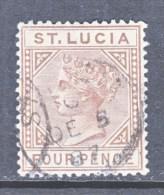 St. Lucia 33a 1883-98 Issue Wmk 2 Die A   (o) - St.Lucia (...-1978)