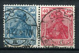 18382) DEUTSCHES REICH Zusammendruck W 16 Gestempelt Aus 1921, 35.- € - Se-Tenant
