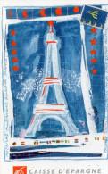 CALENDRIER 2000  CAISSE D'EPARGNE  Ile-de-France Paris  TOUR EIFFEL - Tamaño Pequeño : 2001-...