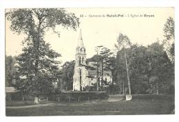 Cp, 62, Env. De St-Pol, L´Eglise De Bryas, Voyagée - Saint Pol Sur Ternoise