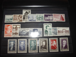 ANNEE COMPLETE FRANCE 1952 NSC **  21 TIMBRES YT  919 - 939  ( YEAR SET JAHRGANG ) - 1950-1959