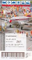 Eintrittskarte Miniatur Wunderland Hamburg 2013 Admission Ticket Modelleisenbahn Model Railway Deutschland Germany - Eintrittskarten