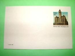 """USA 1983 Unused Pre Paid Postcard """"Old Post Office Washington"""" - Etats-Unis"""